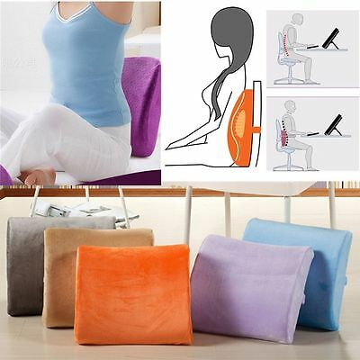 Memory Foam Seat Soft Lumbar Pain Support Booster Car Cushion Chair Back Height