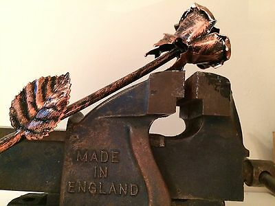 Wrought Iron Rose Hand Made / Vintage style /