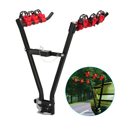 """3 Bicycle Car Bike Carrier Rack 2"""" Tow Ball Mounted Tow bar Foldable Universal"""
