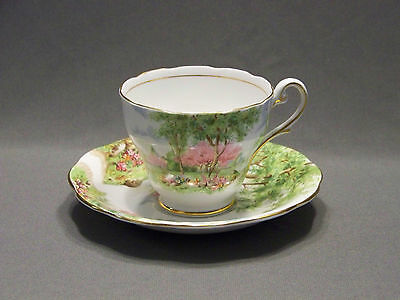 Cup and Saucer fine bone china Spring's gift Royal England