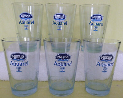 Lot De 6 Verres Aquarel Nestle *