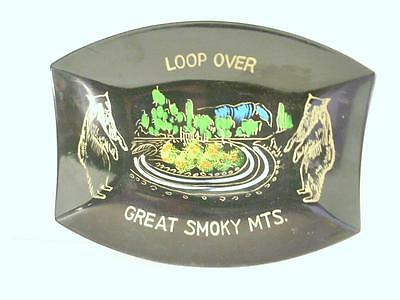 Vintage Great Smoky Mountains Souvenir Tray Made In Japan   (A2)