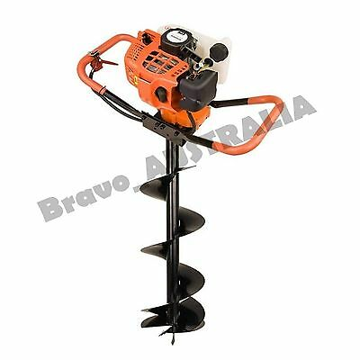 NEW 52cc Post Hole Digger Petrol Fence Fencing Earth Drill Borer Bit 300mm Auger