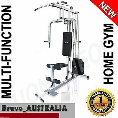 NEW Multi Station Home Gym Weight Training Fitness Machine Pec Deck Pull Down