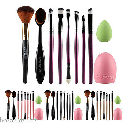 BM 1 Set(10 pz) Pennelli Cosmetico Make Up Professionali Trucco 4 Colori