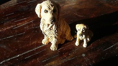 Golden Retriever Knick Knack Statues both included