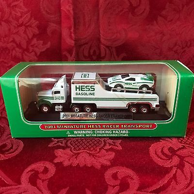 2001  Hess Mini Racer Transport Truck-Direct From The Factory Case-New In Box