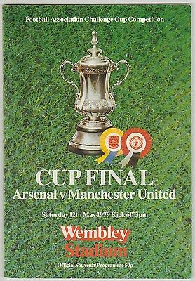 Manchester United V Arsenal Hand Signed 1979 Fa Cup Final Programme 2 X Sigs