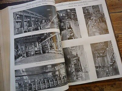 The Iron & Coal Trade Review 2Vol 1923 Siderurgie Mines Mineurs Usine Industrie