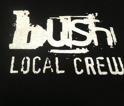 "Vintage Bush Concert Tour T-Shirt 1990's 90's ""LOCAL CREW"" Staff XL Vtg"