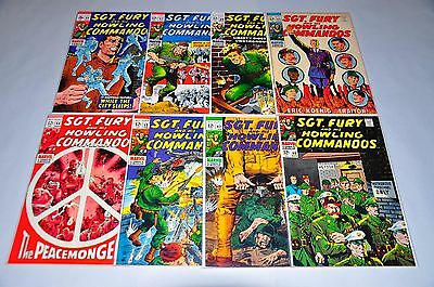 Sgt. Fury 60 62 63 64 65 66 67 69 Run Lot Silver Age Chicago Collection NICE