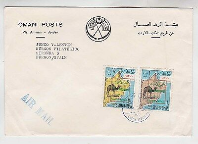1969 cover with two optd stamps to burgos,spain    Rare!     g646