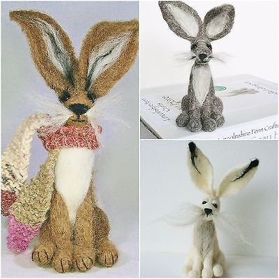 2 Hare Felting Kits Special Offer - For beginners onward - Step by step guide