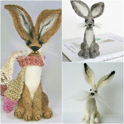 2 Hare Needle Felting Kits Special Offer - For beginners and improvers