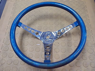 """Superior Performance Products """"The 500"""" 14.5"""" Steering Wheel - Blue Flake - USED"""