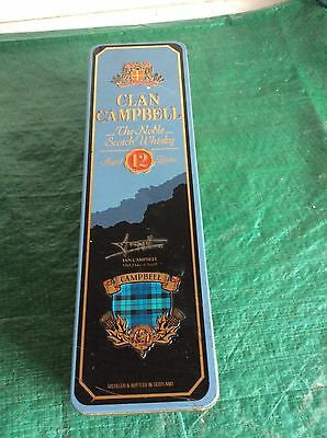 Clan Campbell Scotch Whisky Used Empty Tin
