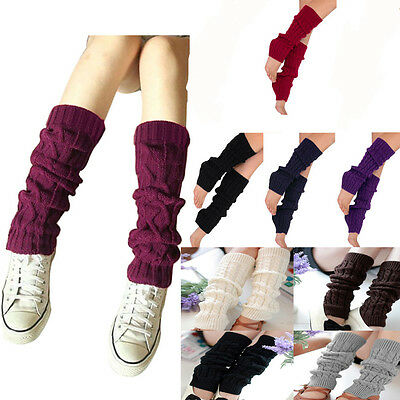 Women's Fashion Knit Crochet Winter Leg Warmer