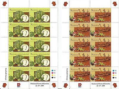 Namibia 2005 Plants with Medicinal Value Full Sheets. MNH