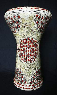 Egyptian Darbuka Doumbek Goblet Drum Multicolour Mosaic + Extra Head And Bag