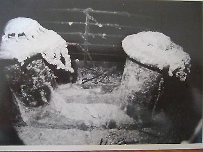 Titanic Postcard- Two Bollards At The Bow Of The Sunken Titanic