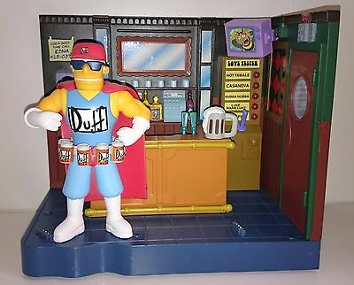 Simpsons Playmates Duffman Moe's Tavern 2002 World of Springfield EB Exclusives