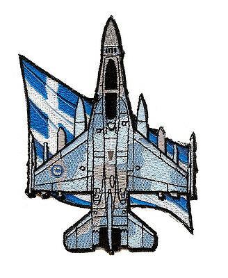 Hellenic Airforce F-16 Silhouette Flag Patch
