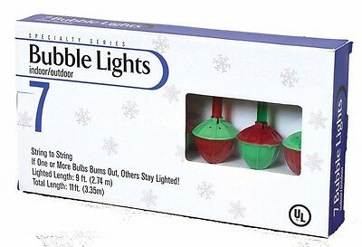 NEW Vintage Inspired Christmas Tree Bubble Lights Multi-Colored Set Light Strand