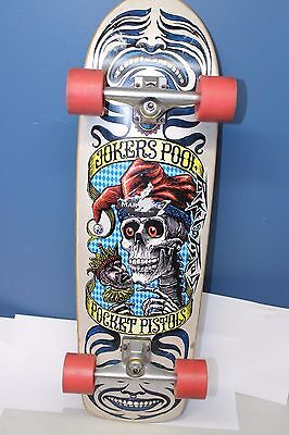 Pocket Pistols Skate Board Jokers Pool with Independent Trucks and Retro Wheels