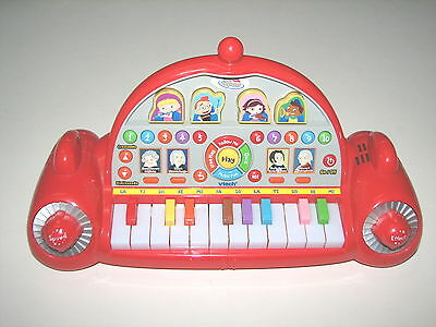 Disney Little Einsteins Red Pat Pat Rocket Play & Learn Piano VTech Rare WORKS