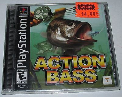 Playstation PS1 Action Bass NEW SEALED Fishing Game