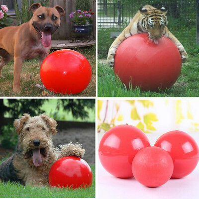 Dog Toy Indestructible Solid Boomer Red Ball Various Size Pet Toys Trainning NEW