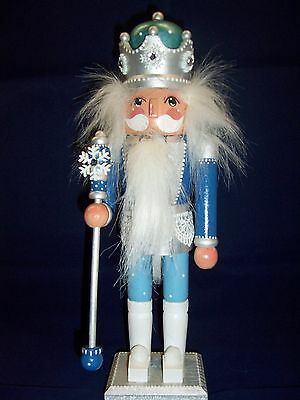 Hand painted Winter Snow King Nutcracker