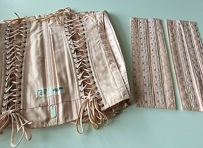 Antique Corset Girdle Large Wth Extensions Sample Costume Pink Boned Fashion