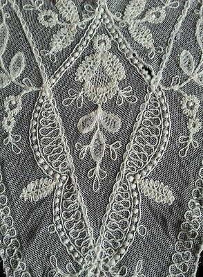 Antique Net Mesh Chemical Lace Remnant Panel for Dolls Vintage Crafters