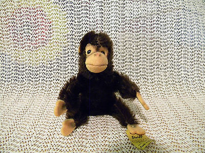 Vintage Small Steiff Monkey with Tag
