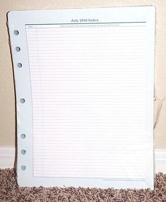 Franklin Covey Original Monarch Size Daily Note Pages 100 pgs 8x11 Monthly Tabs