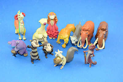 "1 Set(12PCS) Ice Age Sloth Sid Manny Diega Scrat Figures PVC Toys 2""-3"" For Kid"