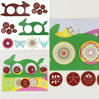 Stencil Template 1 Set Art Kids Painting Mold Creative Drawing Ruler Tool Gift
