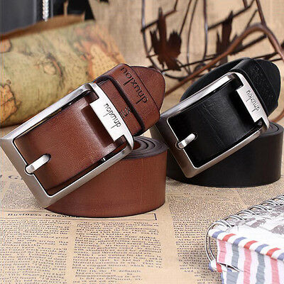 Men's Leather Waistband Belts Trousers Pin Buckle Waist Strap Punk Fashion Gift