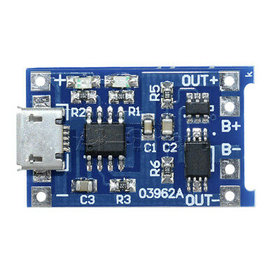 2/5/10PCS 5V Micro USB 1A 18650 Lithium Battery Charging Board Charger Module