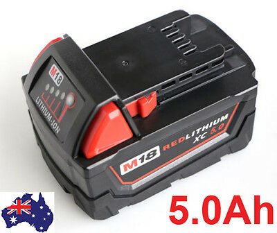 Replace Milwaukee M18 48-11-1840 48-11-1828 XC RED LITHIUM 18V 5.0Ah Battery 5Ah