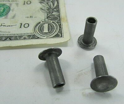"100 Steel Semi Tubular Rivets 3/16"" Diameter x 3/8"" Grip Length, 3/8"" Head Dia."