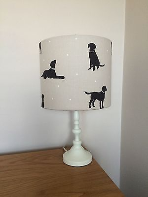 Labrador Dog Print Fabric Lamp