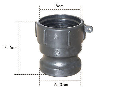 Heavy Duty,1000L IBC Waste Water Supplies Tote Tank Straight Hose Adapter