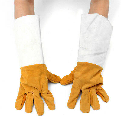 Heat Shield Cover Soft Welding Cowhide Leather Plus Gloves Guard Safe Protection