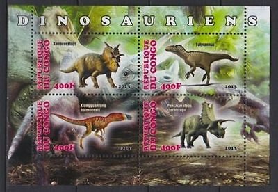 Bloc Sheet Dinosaures Dinosaurs  Neuf MNH ** Congo 2013  Private local/issue