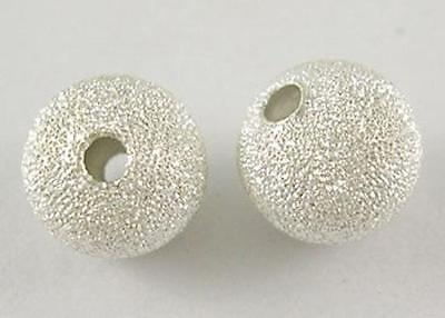 METAL STARDUST BEADS SILVER PLATED 4mm , 6mm , 8mm ,10mm