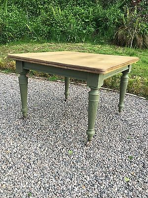Antique Victorian Pine Topped Dining Table
