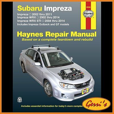 89080 Haynes Subaru Impreza & WRX (2002 - 2014) (USA) Workshop Manual