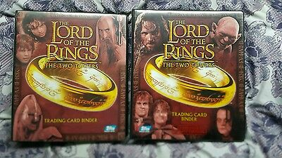 The Two Towers Lotr card binders and extras